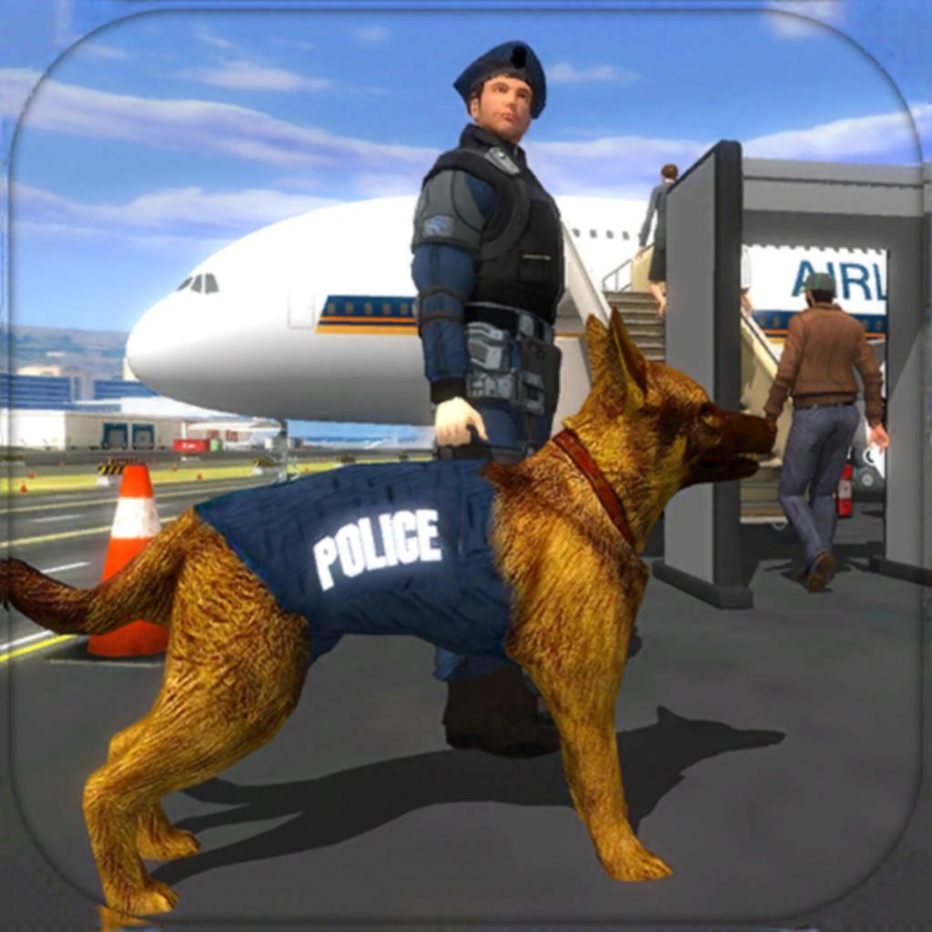 Police Dog Airport Crime Chase